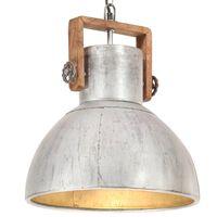 vidaXL Industriell hengelampe 25 W sølv rund 40 cm E27