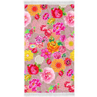 Happiness Strandhåndkle WOODSTOCK 100x180 cm flerfarget