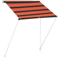 vidaXL Uttrekkbar markise 150x150 cm oransje og brun