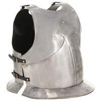 vidaXL Middelaldersk kroppsrustning kyrass replika LARP sølv stål