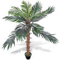 vidaXL Kunstig palmetre med potte 140 cm