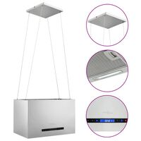 vidaXL Fritthengende kjøkkenvifte sensor LCD 55 cm rustfritt stål