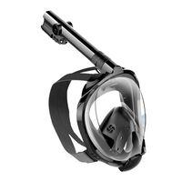 Full ansiktsmaske med snorkel og GoPro-feste - svart - L / XL