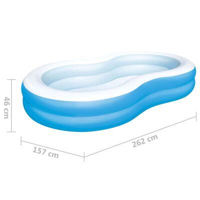 Bestway Big Lagoon Familiebasseng 262x157x46 cm