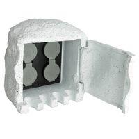 Hagestrømsokkel av kunstig stein med fjernkontroll