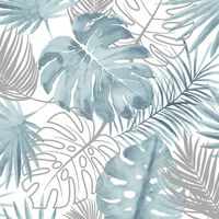 DUTCH WALLCOVERINGS Veggpanel vindusblad blå