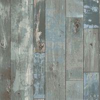 DUTCH WALLCOVERINGS Veggpanel drivved gråblå