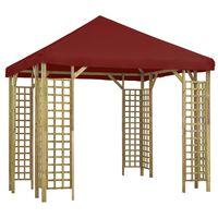 vidaXL Paviljong 3x3 m vinrød