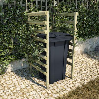 vidaXL Enkelt søppeldunkskur 70x80x150 cm impregnert furu