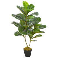 vidaXL Kunstig plante fiolinfiken med potte grønn 90 cm