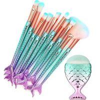 Sminkebørstesett 11 koster - Mermaid