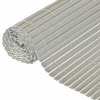 Nature Hageskjerm dobbeltsidig PVC 1,5x3m grå