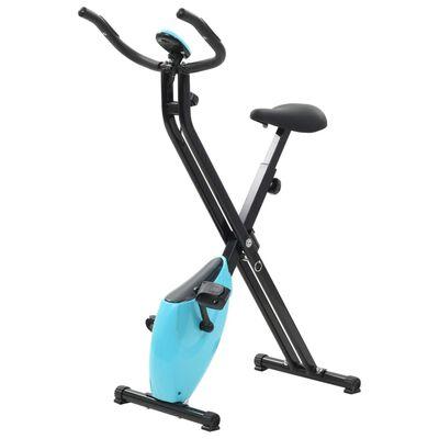 vidaXL Magnetisk ergometersykkel X-Bike med pulsmåling svart og blå