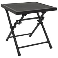 vidaXL Sammenleggbart bord netting 38x38x38 cm stål antrasitt