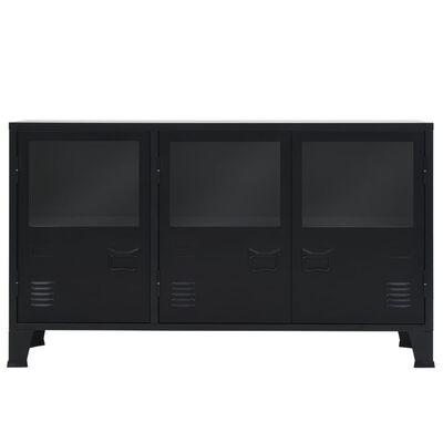 vidaXL Skjenk metall industriell stil 120x35x70 cm svart