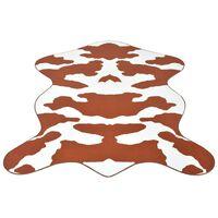 vidaXL Formet teppe 70x110 cm brunt kumønster