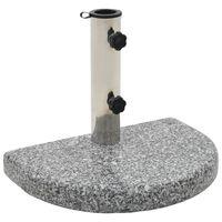 vidaXL Parasollfot granitt 10 kg kurvet grå