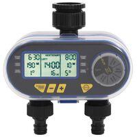 vidaXL Automatisk digital vanningstimer med to krankoblinger