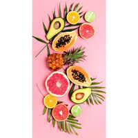 Good Morning Strandhåndkle PINK FRUITS 75x150 cm rosa