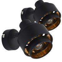 vidaXL Spotlys 2 stk svart E14