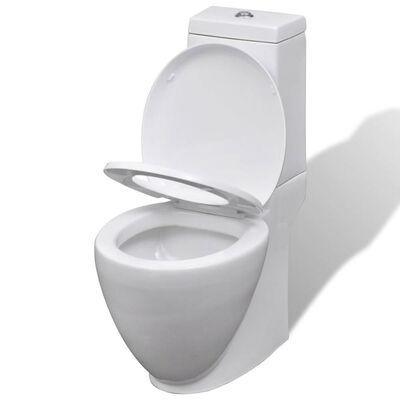 Keramisk toalett & bidetsett hvit