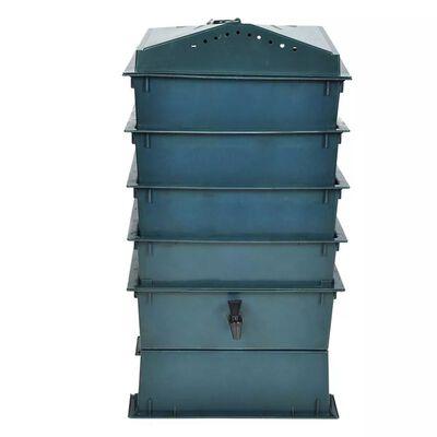 vidaXL Markkompost 4 brett 42x42x60 cm