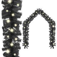 vidaXL Julekrans med LED-lys 10 m svart