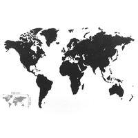 MiMi Innovations Verdenskart Luxury puslespill svart 150x90 cm