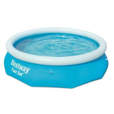 Bestway Oppblåsbart svømmebasseng Fast Set rundt 305x76 cm 57266