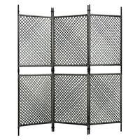 vidaXL Romdeler med 3 paneler polyrotting antrasitt 180x200 cm
