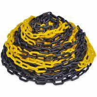 30m Plastikk varselkjede svart og gul