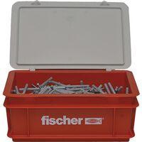 Fischer Spikerskruesett med plugger N6x80 300 stk