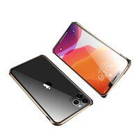Magnetisk skall med tosidig herdet glass - iPhone 11 Pro Max - Gull
