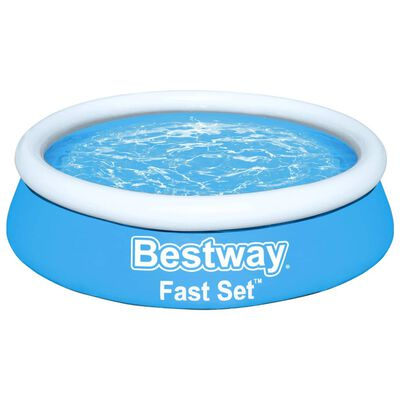 Bestway Oppblåsbart basseng Fast Set rundt 183x51 cm blå