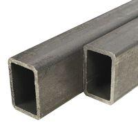 vidaXL Stålrør rektangulær 2 stk 2m 60x30x2mm