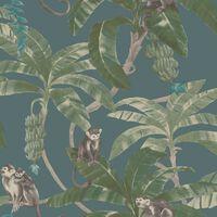 DUTCH WALLCOVERINGS Veggpanel Monkey Puzzle grønn
