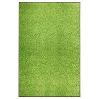 vidaXL Dørmatte vaskbar grønn 120x180 cm