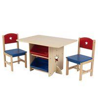 Ensemble table et chaises avec motif d'étoile