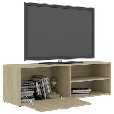 vidaXL TV-benk sonoma eik 120x34x37 cm sponplate