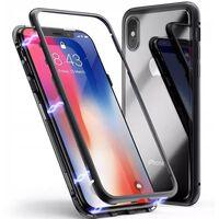 iPhone XS Max magnetisk skall med herdet glass og skjermbeskytter - sv