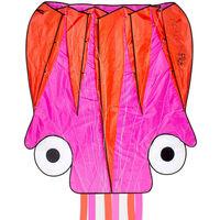 Dragon Fly Blekksprutdrage 124x127cm rosa og oransje