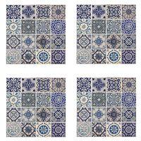 WALPLUS Veggmaleri klistremerke spansk blå 54x54cm 4 ark