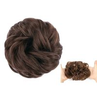 Scrunchie med syntetisk hår - Mørkebrun