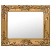 vidaXL Veggspeil barokkstil 50x40 cm gold