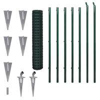 vidaXL Euro gjerde stål 10x1,7 m grønn