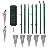 vidaXL Euro gjerde stål 10 x 0,8 m grønn