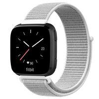 Fitbit Versa / Versa Lite Armbånd Nylon Hvit / Grå