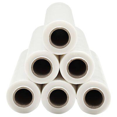 vidaXL Pallefilmruller 6 stk gjennomsiktig 23 µm 624 m