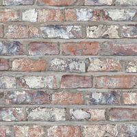DUTCH WALLCOVERINGS Veggpanel murstein flerfarget EW3103