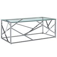 vidaXL Salongbord 120x60x40 cm herdet glass og rustfritt stål